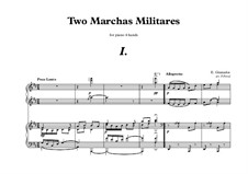 Two Marchas Militares, for Piano Four Hands: Two Marchas Militares, for Piano Four Hands by Enrique Granados