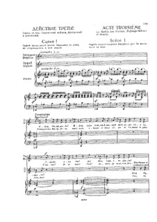Complete Opera: Act III. Piano-vocal score by Christoph Willibald Gluck
