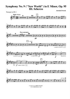 Movement III: Trumpet in Bb 1 (transposed part) by Antonín Dvořák