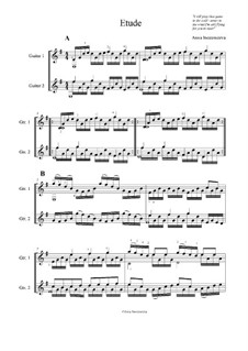 Etude: Score for two performers by Anna Inosemzeva