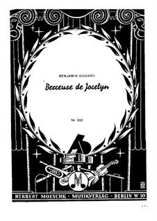 Berceuse: For piano by Benjamin Godard