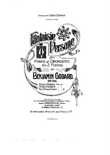 Fantaisie persane, Op.152: For two pianos four hands – piano I part by Benjamin Godard