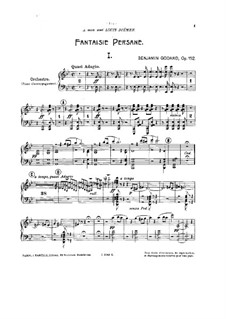 Fantaisie persane, Op.152: For two pianos four hands – piano II part by Benjamin Godard