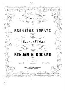 Sonata for Violin and Piano No.1, Op.1: Score by Benjamin Godard
