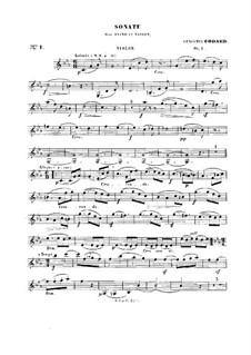 Sonata for Violin and Piano No.1, Op.1: Solo part by Benjamin Godard