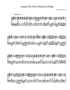Angels We Have Heard on High: For piano by Unknown (works before 1850)
