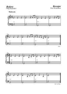 Bolero, Op.16: For piano by Oleg Kopenkov
