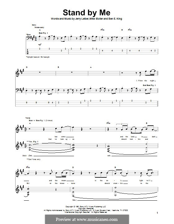 Stand By Me: For bass guitar with tab by Ben E. King, Jerry Leiber, Mike Stoller