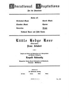 Heidenröslein (Little Hedge Rose), D.257 Op.3 No.3: Piano-vocal score by Franz Schubert