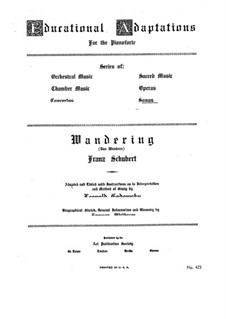 No.1 Das Wandern (Wandering): Piano-vocal score by Franz Schubert