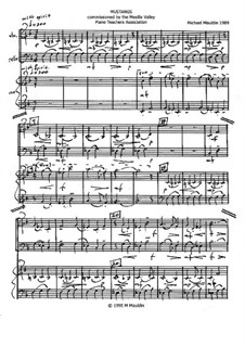 Mustangs (violin, 'cello, piano): Mustangs (violin, 'cello, piano) by Michael Mauldin