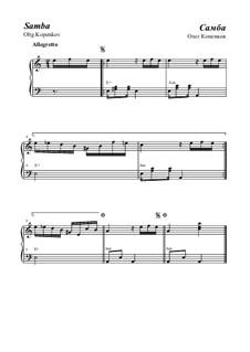 Samba, Op.16: For piano by Oleg Kopenkov