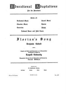 Florian's Song: Piano-vocal score by Benjamin Godard