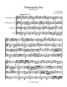Thanksgiving Day: For brass quartet by Luigi Cherubini