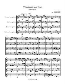 Thanksgiving Day: For saxophone quartet by Luigi Cherubini