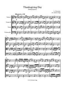 Thanksgiving Day: For string quartet by Luigi Cherubini
