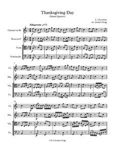 Thanksgiving Day: For mixed quartet by Luigi Cherubini