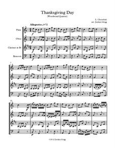 Thanksgiving Day: For woodwind quartet by Luigi Cherubini