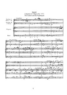 Concerto No.1 in F Major, HWV 295: Concerto No.1 in F Major by Georg Friedrich Händel