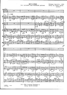 Aki's Story (Narrator and Woodwind Quintet): Aki's Story (Narrator and Woodwind Quintet) by Michael Mauldin