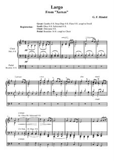 Largo: For organ by Georg Friedrich Händel