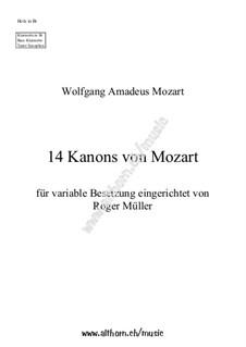 Twelve Canons: Twelve Canons by Wolfgang Amadeus Mozart