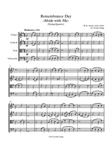 Abide with Me: For string quartet by William Henry Monk