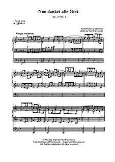 Choral 'Nun danket alle Gott' und Fughetta in A: Choral 'Nun danket alle Gott', Op.74 Nr.2 by Rudolf Palme, Jan Krtitel Kuchar