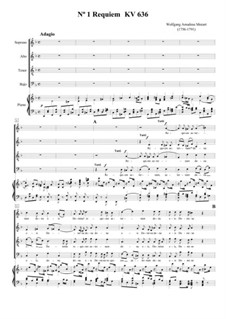 Complete Movements: For voices and piano by Wolfgang Amadeus Mozart