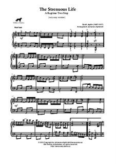 The Strenuous Life: Very easy version by Scott Joplin