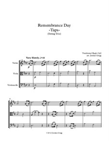 Taps: For string trio by Daniel Adams Butterfield