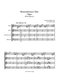 Taps: For wind quartet by Daniel Adams Butterfield