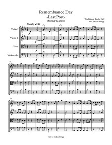 Last Post: For string quartet by Unknown (works before 1850)