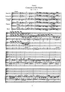 Concerto No.3 in B Flat Major, HWV 308: Concerto No.3 in B Flat Major by Georg Friedrich Händel