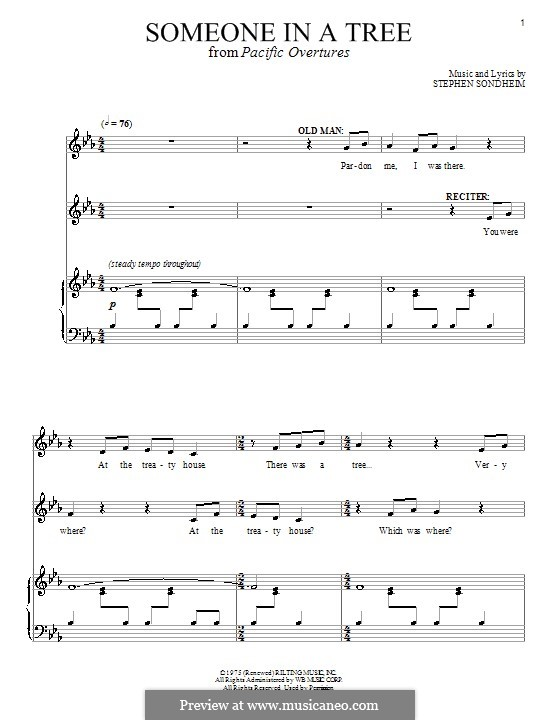 Someone in a Tree: For voice and piano by Stephen Sondheim