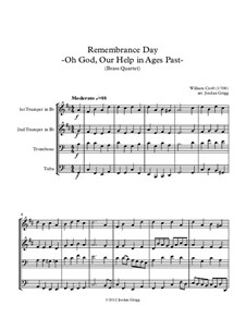 O God, Our Help in Ages Past: For brass quartet by William Croft
