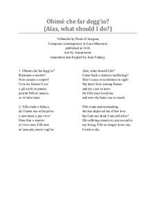 Ohimè che far degg'io? Renaissance Villanella for Three Voices: Ohimè che far degg'io? Renaissance Villanella for Three Voices by Paolo d'Aragona
