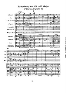 Symphony No.101 in D Major 'The Clock', Hob.I/101: Movement I by Joseph Haydn
