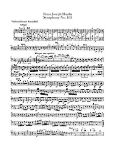 Symphony No.103 in E Flat Major 'Drum Roll', Hob.I/103: Cello and double bass part by Joseph Haydn