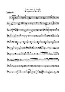 Symphony No.104 in D Major 'London', Hob.I/104: Cello part by Joseph Haydn