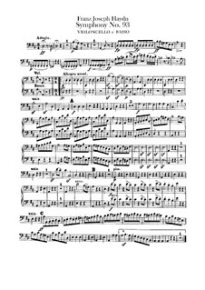 Symphony No.93 in D Major, Hob.I/93: Cello and double bass part by Joseph Haydn
