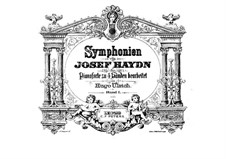 Complete set: Version for piano four hands by Joseph Haydn