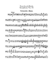 Symphony No.95 in C Minor, Hob.I/95: Cello and double bass part by Joseph Haydn