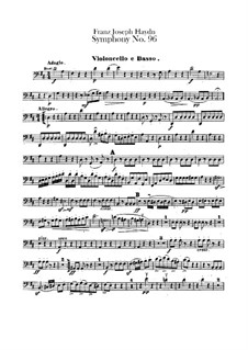 Symphony No.96 in D Major 'The Miracle', Hob.I/96: Cello and double bass part by Joseph Haydn