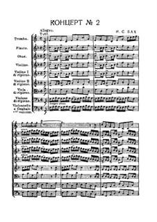 Brandenburg Concerto No.2 in F Major, BWV 1047: Full score by Johann Sebastian Bach