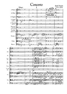 Concerto for Trumpet and Orchestra in E Flat Major, Hob.VIIe/1: Full score by Joseph Haydn
