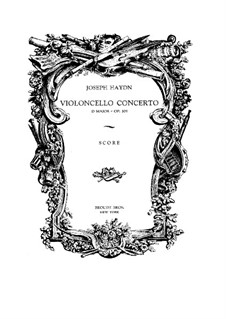Concerto for Cello and Orchestra No.2 in D Major, Hob.VIIb/2: Full score by Joseph Haydn
