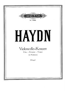 Concerto for Cello and Orchestra No.2 in D Major, Hob.VIIb/2: Version for cello and piano by Joseph Haydn