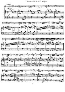 Sonata No.6 in C Major: Full score, Solo part by Joseph Haydn