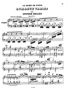 Pieces on Themes from 'La dame de pique' by Halévy, Op.75: No.2 Romance variée by Stephen Heller